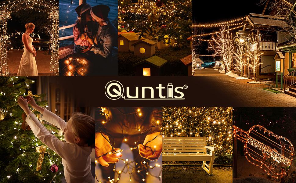 Quntis - Cadena de luces con 500 ledes, 100 m, 8 modos y función de memoria para interior y exterior, impermeable, iluminación para navidad, bodas, cumpleaños, fiestas, jardín: Amazon.es: Iluminación
