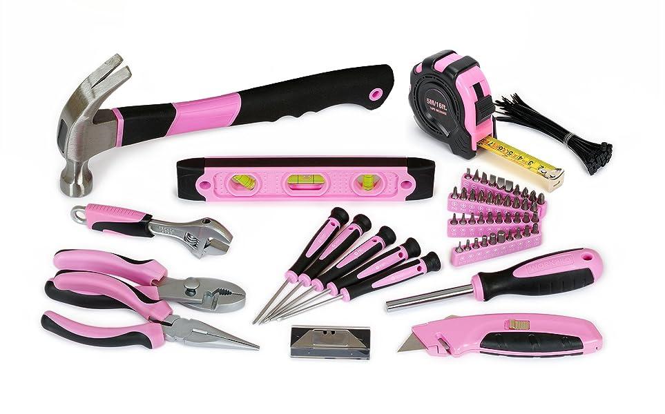 Reparar el grifo con fugas,colgar cuadros,montaje de muebles,apretar las cadenas de bicicleta,aquí está el kit de herramientas correcto para todos los ...
