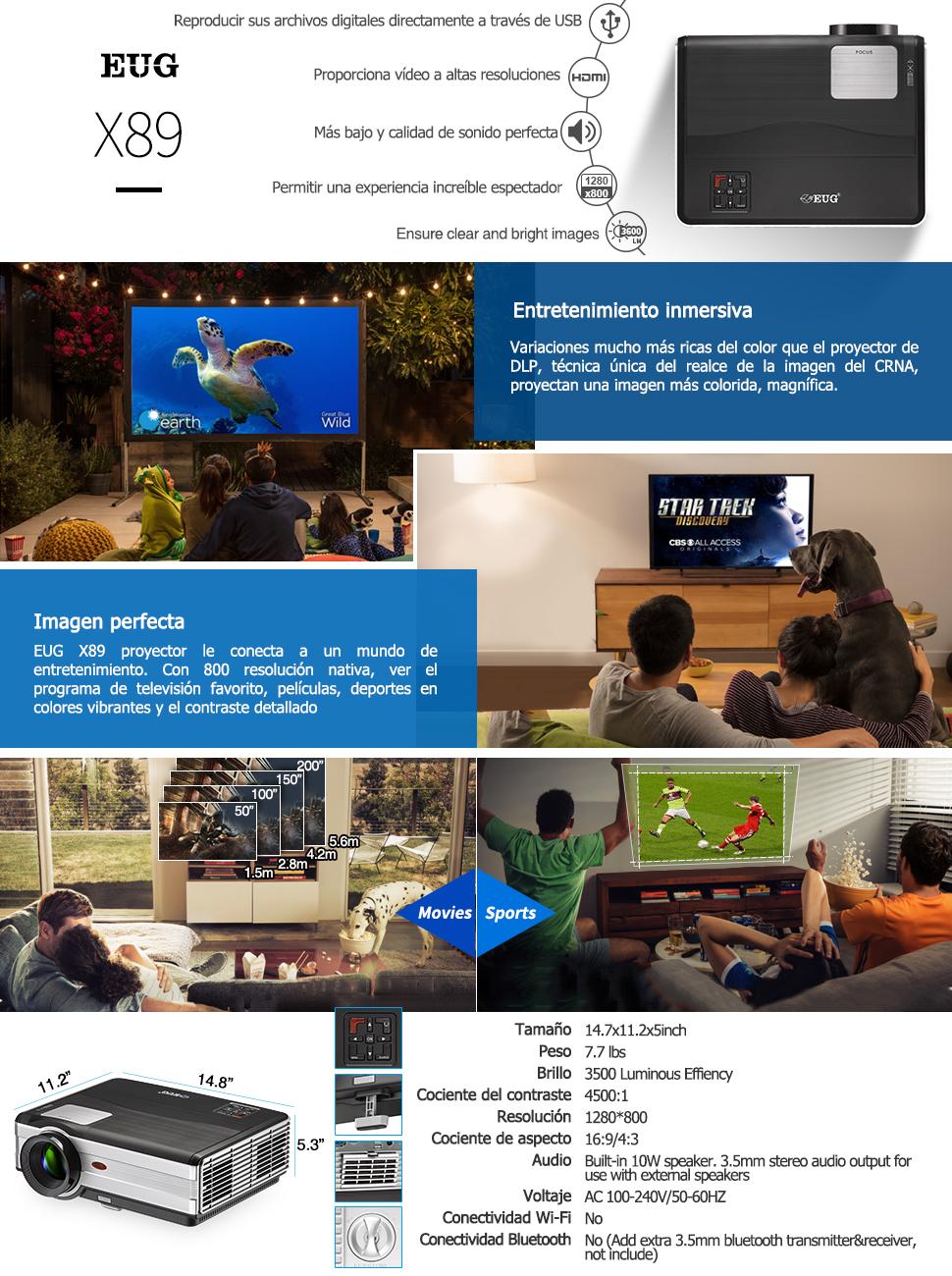 Proyector Cine en Casa de LED 4000 Lúmenes con Zoom, HD Nativo 1080P Soportes LCD LED Vídeo Proyector con HDMI USB VGA AV Audio Compatible con ...