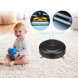 Clymen Q9 Aspirador Robot 3 En 1 con Control De Voz, Robot Aspiradora para Mascotas, Conexión WiFi Y Compatible con Alexa App, 2 Luces UV para Desinfección, con Cepillos Giratorios: Amazon.es: Hogar