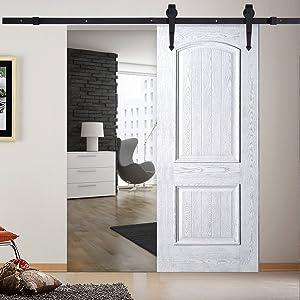 Puerta de Corredera de Madera, Accesorios para Puerta Deslizante para Baño, Dormitorio, Balcón, Cocina y Otras Puertas Correderas (Tipo D(6FT,183 cm)): Amazon.es: Bricolaje y herramientas