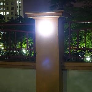 Para iluminación de pilares o muros