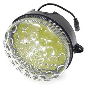 Con lente especial diseñada para mejorar el efecto de iluminación