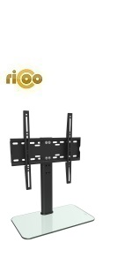 RICOO FS304-B, Soporte TV, Base de pie, Pedestal Mesa, Televisión 30-55