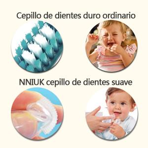 El cepillo de cerdas ordinarias es fácil de dañar el plomo oral de su bebé. No es fácil desarrollar hábitos de salud bucal para su bebé.
