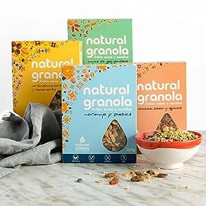 Granola Natural Athlete, Moras y Pasas, Frutos Secos y Semillas ...