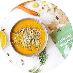Superfood Mix Detox Natural Athlete, Superalimento 100% Natural ...