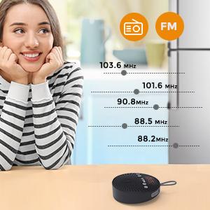 Altavoz Bluetooth impermeable Ducha radio