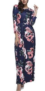 Lover-Beauty Vestido Largo Mujer Talla Grande Moda Bolsillo Top Falda para Fiesta Verano Manga Corta Floral Estampada Suleto Moda de Ropa Elegante Maxi: Amazon.es: Ropa y accesorios