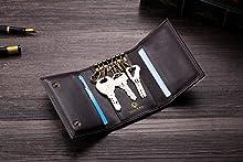   Llavero Co/ñac Cronus y Rhea/® titular de la clave Con elegante caja de regalo Hombres caja dominante Funda de lujo hecha de cuero exclusivo Mujeres Aeacus Cuero real