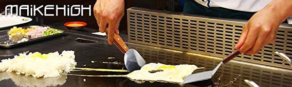 MAIKEHIGH Juego de accesorios para asar a la parrilla 9 piezas Juego de esp/átula de metal de acero inoxidable para barbacoa Utensilios para asar a la parrilla cocinar con tapa plana