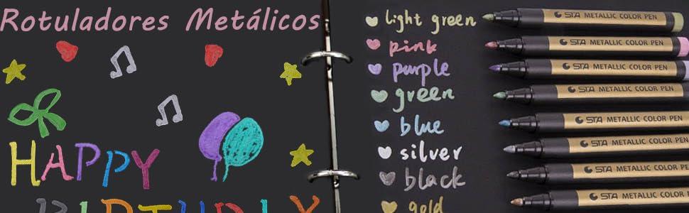 Rotuladores metálicos para pinturas,marcadores de tiza y metal,punta mediana permanente, de secado rápido,para pintar rocas,cristal,fotografía, ...