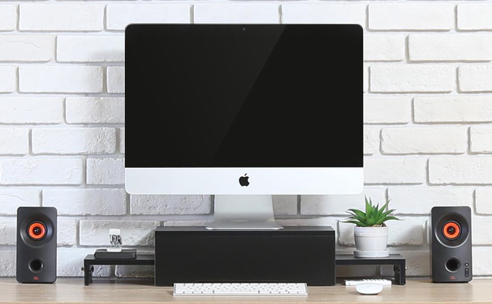 Elevar la posición de su monitor para mejorar la posición visual. Le ayudará a reducir la rigidez de cuello, el dolor de espalda y la fatiga visual ...