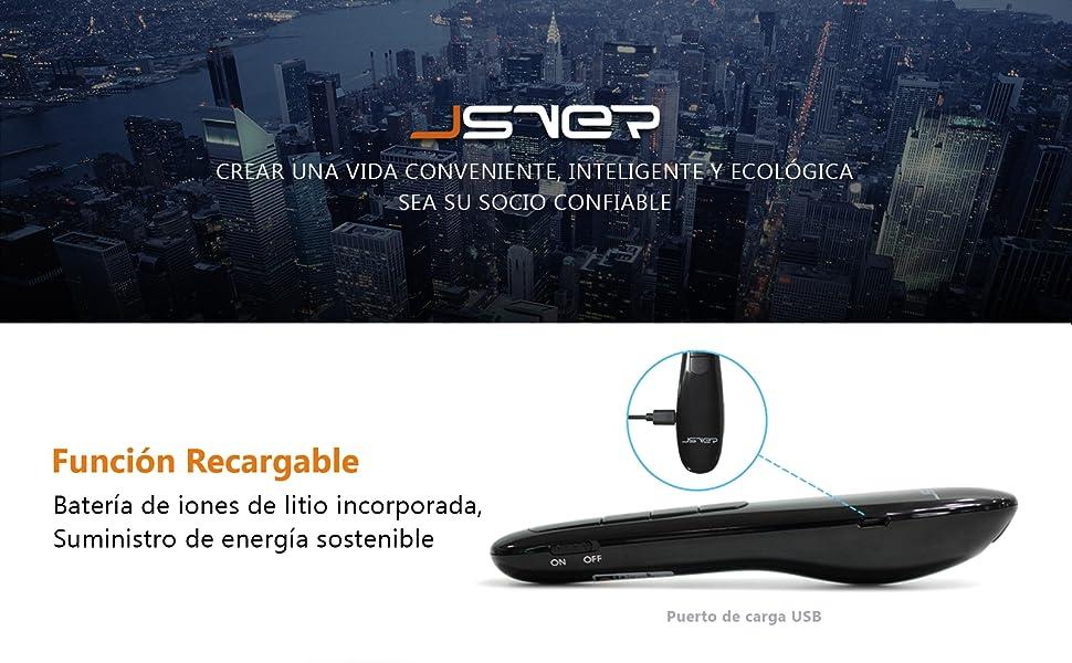 JSVER Mando Inalámbrico para Presentación Powerpoint, Puntero ...