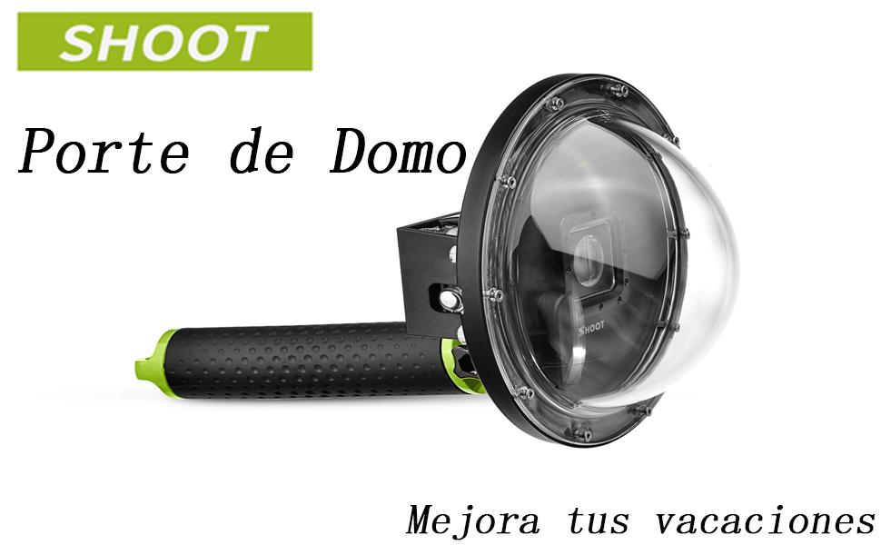 SHOOT 6 Pulgadas Dome Cúpula Sumergible para GoPro Hero 3+/4 Cámara con Carcasa y Mango
