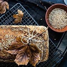 Nutringo - mezcla para hornear pan de proteínas 3x200g. | 4g. carbohidratos | Sin cereales | Sin gluten | Para Paleo, Keto baja en carbohidratos y ...