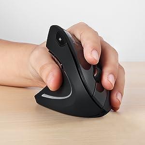 Ratón ergonomico Vertical inalámbrico para Zurdos