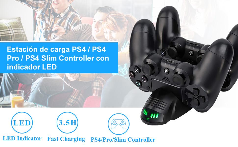 Cargador Mando PS4 Solotree Cargador Doble Cargador ...