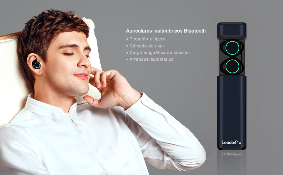 LeaderPro Auriculares In-Ear Mini Auriculares Bluetooth ...