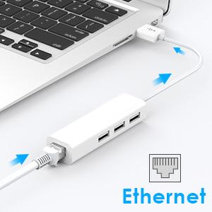 Convierta el puerto USB-A de su computadora portátil en 3 puertos USB 2.0, proporcionando un entorno de red estable y confiable. Compatible con Mac OS, ...