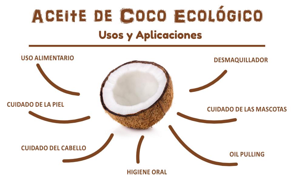 Aceite de coco extra virgen 1000 ml - Crudo y prensado en frío - Puro y 100% biológico - Ideal para cabello, cuerpo y para uso alimentario - Aceite ...