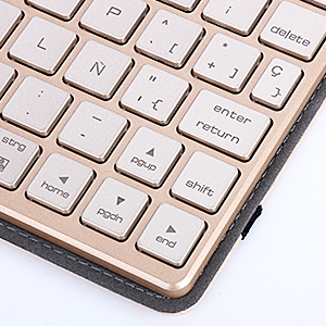 7 color retroiluminado Bluetooth teclado: