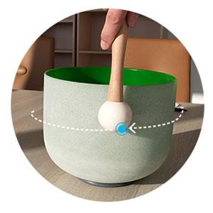 ¿Cómo usar el Crystal singing bowls?
