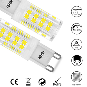 Bombillas LED G9 5W Kimjo Blanco Frío 6000K Equivale 40W Halogenos ...