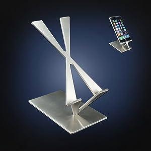 USA ArtsOnDesk Arte Moderno Soporte de Teléfono Móvil St204 Acero ...