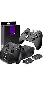 Fosmon Cargador Mando Xbox One, Doble Estación de Carga ...