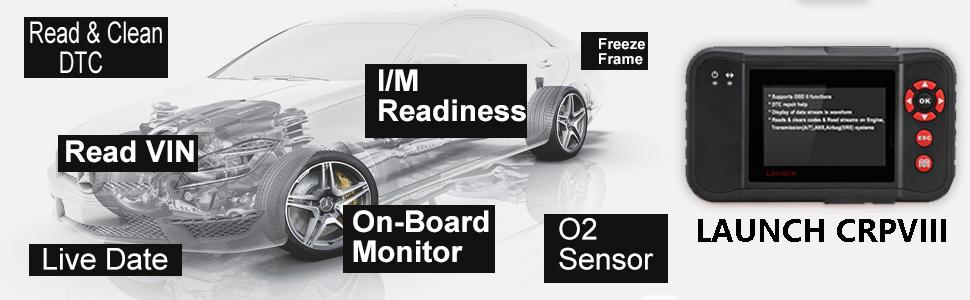 Sistema de diagnóstico Launch Creader VII+ / VIII Code Reader 8, para coche: Amazon.es: Coche y moto