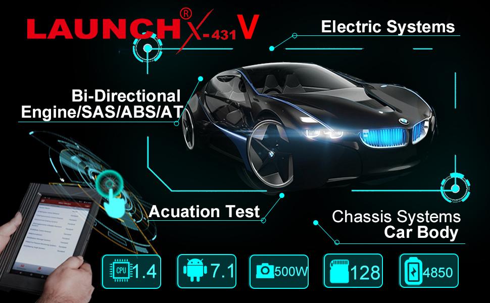 Launch X431 V (X431 Pro), OBD2 de Diagnóstico, Programación Llavero, ECU Codificación, ABS Frenado Sangrado, Funciones de Restablecimiento Incluyendo ...