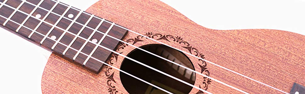 Paisen Ukelele Soprano Caoba Ukulele 21 pulgadas Instrumento con ...