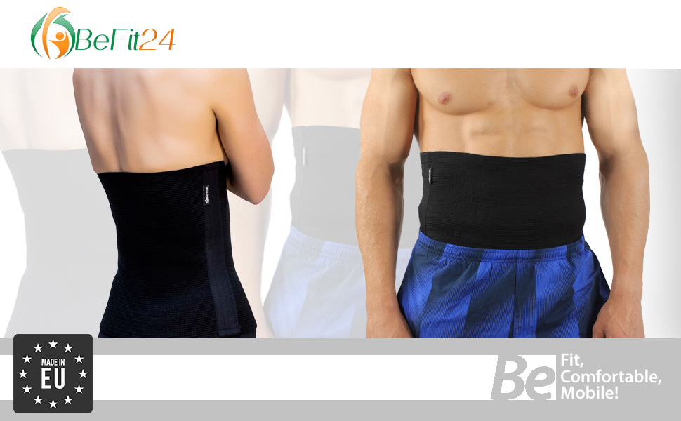 ®BeFit24 Faja Lumbar Deportiva Premium para Mujer y Hombre – Faja Tubular Termica Perfecta para Fitness, Correr, Caminar, Esquiar [ Size 8 ]