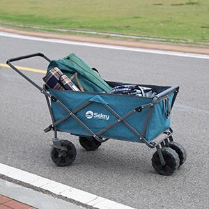 El carrito plegable está fabricado con una duradera tela Oxford 600D y un marco de acero resistente, además, la cesta del carrito es fácil de quitar y lavar ...