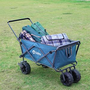 El carro plegable está fabricado con tela resistente Oxford y la cesta del coche es fácil de quitar y lavar, asegurando así una larga vida útil.