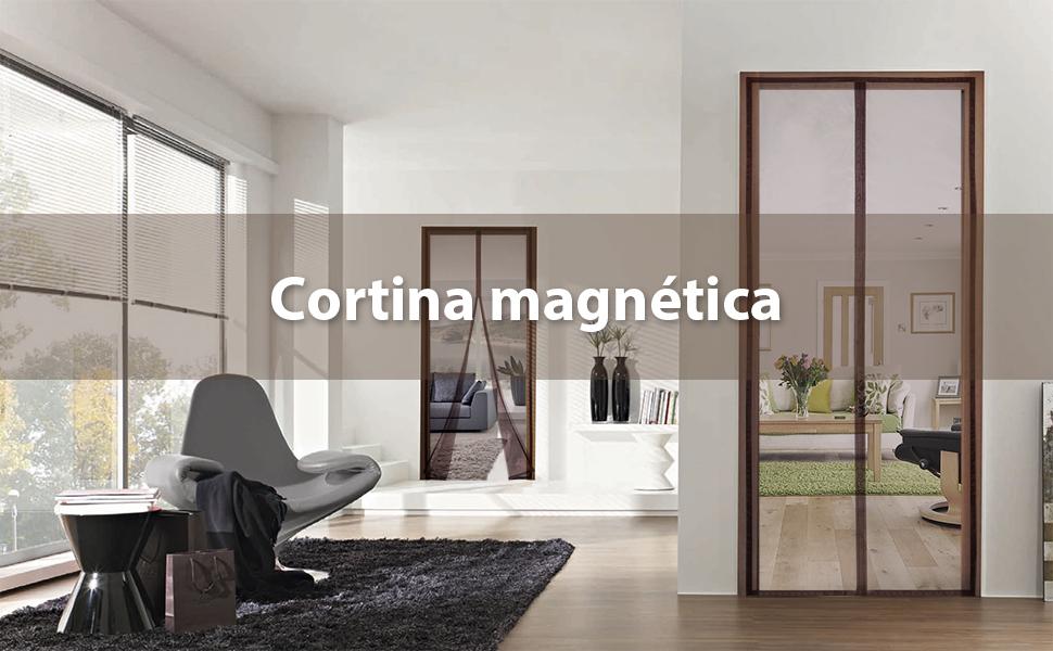 sekey magnético puerta cortina anti de insectos, para madera, hierro, aluminio puertas y balcón. Fácil Instalación, 210 * 110 cm, Café: Amazon.es: Bricolaje y herramientas