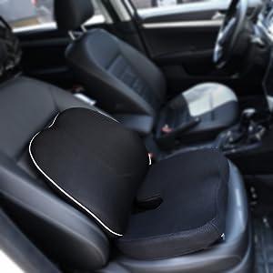 MonTrüe Back Cushion 404558 - Cojin de Espuma con Memoria para Silla ergonomico, ortopedico para Alivio de coxis, Espalda Inferior y ciática, para la ...