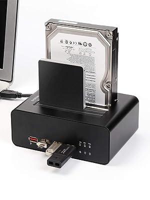 SALCAR USB 3.0 SATA Base de Conexión para Disco Duro Docking ...