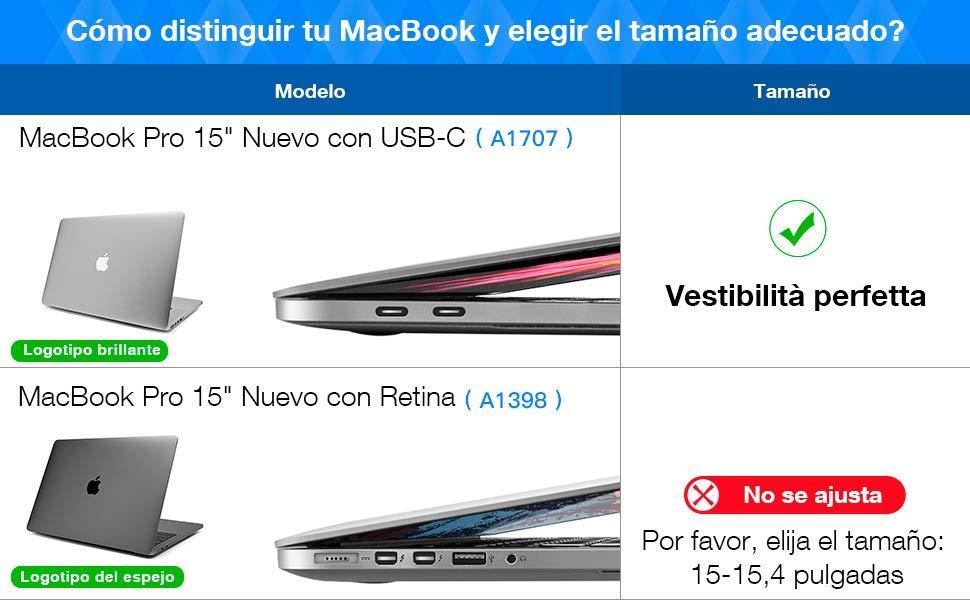 macbook pro case. tomtoc 360° Funda protectora para computadora portátil
