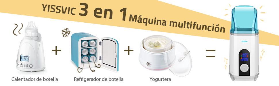 Calienta Biberón Refrigerador Yogurtera 3 en 1, YISSVIC ...