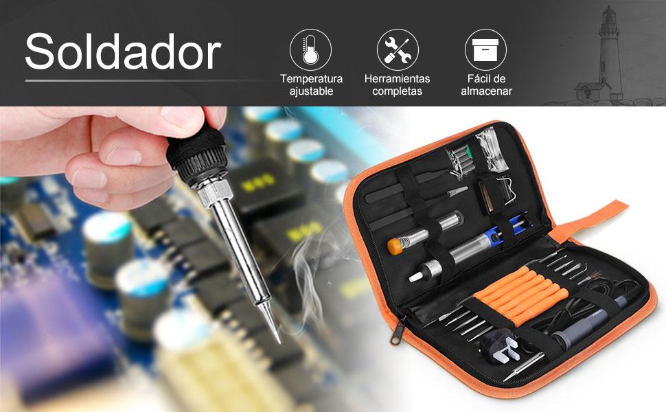 El kit de soldadura eléctrica será una herramienta perfecta para DIY.