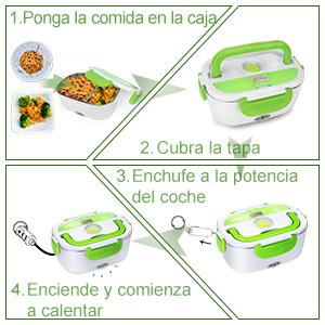 El calentador eléctrico es la forma más práctica para calentar y mantener la comida caliente