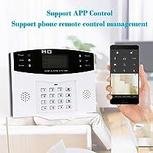 OWSOO 433MHz Sistema de Alarma GSM SMS, Sistema de Alarma Inalámbrico, Soporta Control Remoto de Phone APP, Alarma de SMS/ Marcación, Intercomunicador ...