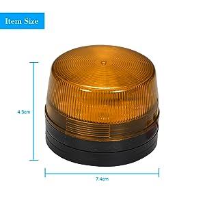Azul OWSOO Luz de Advertencia LED Luz Estrobosc/ópica Impermeable 12V 120mA para Sistema de Alarma