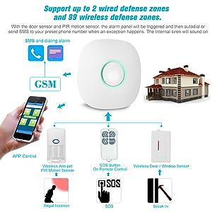 OWSOO Sistema de Alarma Inalámbrico Antirrobo gsm SMS 25KG ...