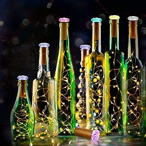 Botella de luz LED 10 Piezas con Cubierta de La Lámpara de Color ...