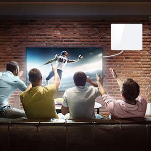 2020 Newest Antena de TV,Antena de TV Digital para Interiores de Alcance de 280KM con Amplificador Inteligente de Señal, Adecuada para Canales de TV Gratis 1080P 4K, con Cable Coaxial de 5M: