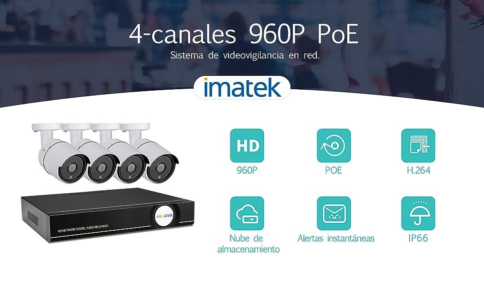 Este revolucionario y fácil de instalar sistema de vigilancia 960P HD es ideal para la seguridad doméstica y empresarial. Los movimientos en pantalla suaves ...