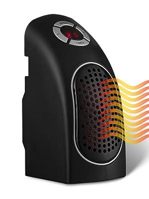 termoventilador eléctrico calefactor portátil control de temperatura y temporizador